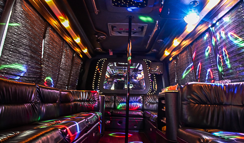 Interior of DC Hummer Limo