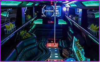 mega party bus with dance floor inside