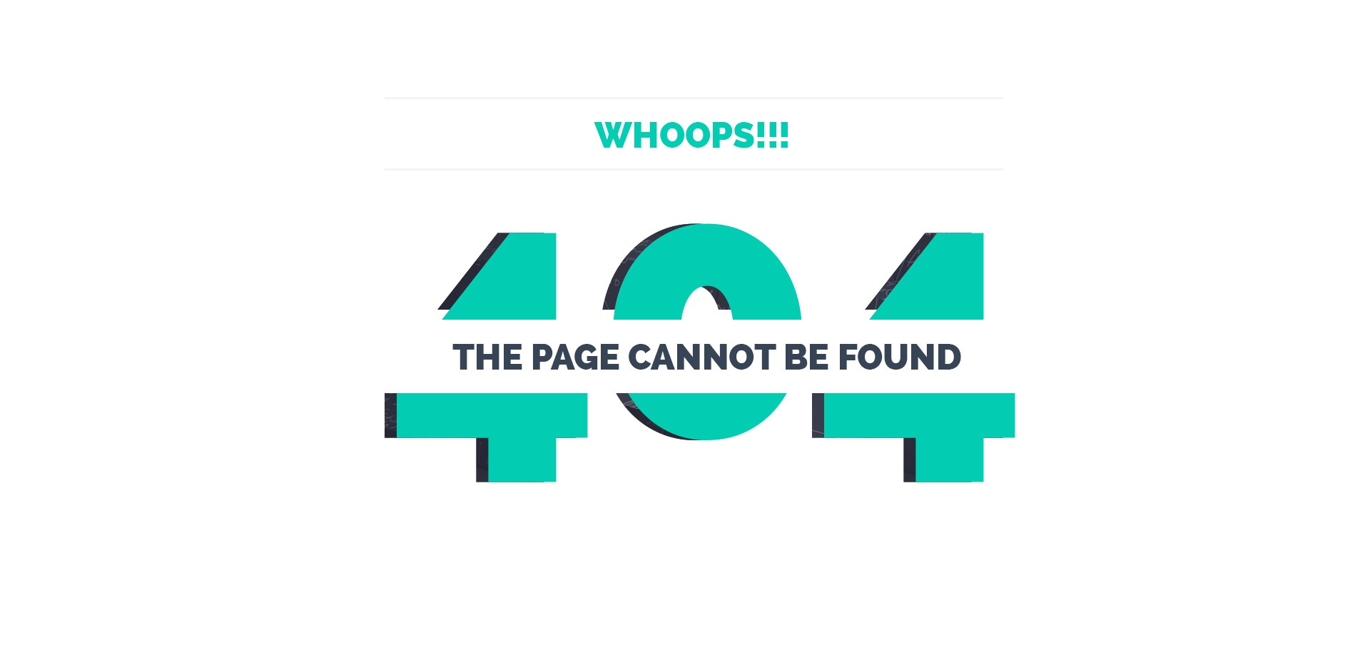 404 notfound page
