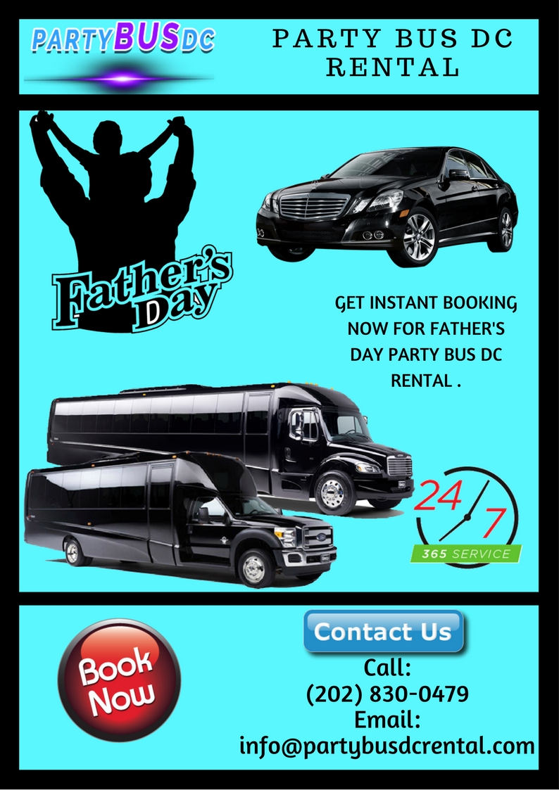DC Party Bus for Father's Day